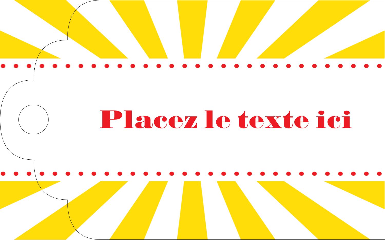 """2"""" x 1⅛"""" Étiquettes imprimables - Chapiteau de cirque"""