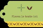 Fleurs vertes géométriques Étiquettes imprimables - gabarit prédéfini. <br/>Utilisez notre logiciel Avery Design & Print Online pour personnaliser facilement la conception.