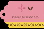 Fleurs roses géométriques Étiquettes imprimables - gabarit prédéfini. <br/>Utilisez notre logiciel Avery Design & Print Online pour personnaliser facilement la conception.