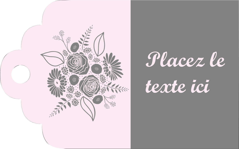 """2"""" x 1⅛"""" Étiquettes imprimables - Bouquet de fleurs"""