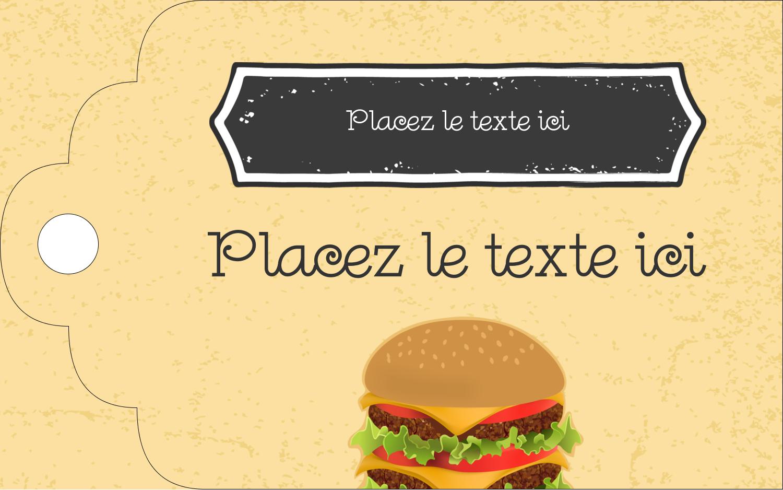 "2"" x 1⅛"" Étiquettes imprimables - Hamburger"