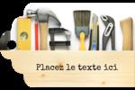 Menuiserie  Étiquettes imprimables - gabarit prédéfini. <br/>Utilisez notre logiciel Avery Design & Print Online pour personnaliser facilement la conception.