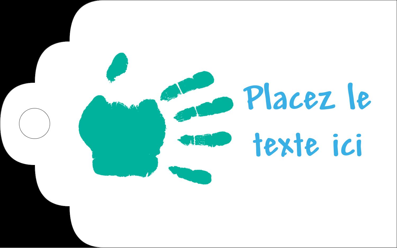 """2"""" x 1⅛"""" Étiquettes imprimables - Mains enfantines"""