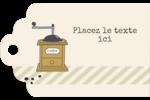 L'heure du café Étiquettes imprimables - gabarit prédéfini. <br/>Utilisez notre logiciel Avery Design & Print Online pour personnaliser facilement la conception.