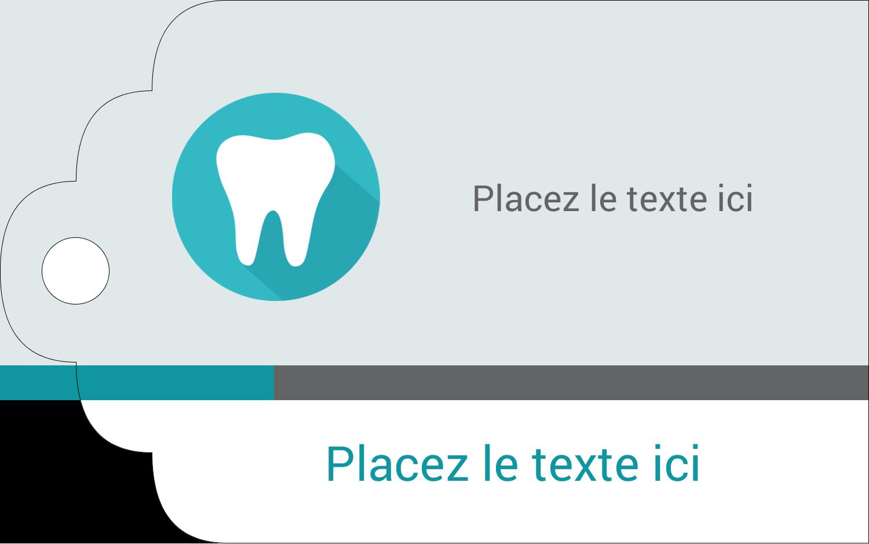"""2"""" x 1⅛"""" Étiquettes imprimables - Dent"""