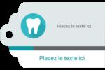 Dent Étiquettes imprimables - gabarit prédéfini. <br/>Utilisez notre logiciel Avery Design & Print Online pour personnaliser facilement la conception.