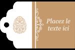 Œuf de Pâques de couleur bronze Étiquettes imprimables - gabarit prédéfini. <br/>Utilisez notre logiciel Avery Design & Print Online pour personnaliser facilement la conception.