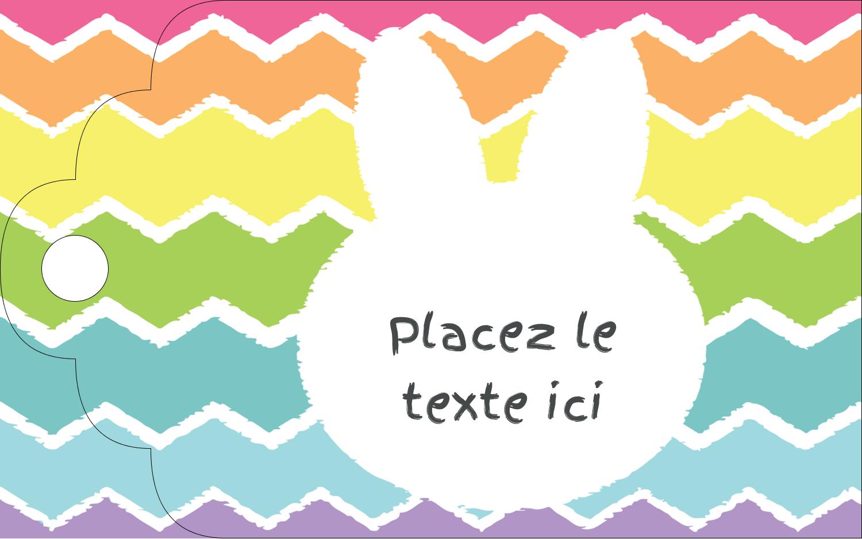 """2"""" x 1⅛"""" Étiquettes imprimables - Lapin Bonbon"""