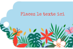 Plantes tropicales Étiquettes imprimables - gabarit prédéfini. <br/>Utilisez notre logiciel Avery Design & Print Online pour personnaliser facilement la conception.
