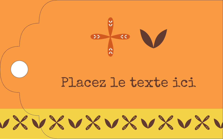 """2"""" x 1⅛"""" Étiquettes imprimables - Fleurs orange géométriques"""