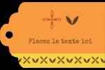 Fleurs orange géométriques Étiquettes imprimables - gabarit prédéfini. <br/>Utilisez notre logiciel Avery Design & Print Online pour personnaliser facilement la conception.