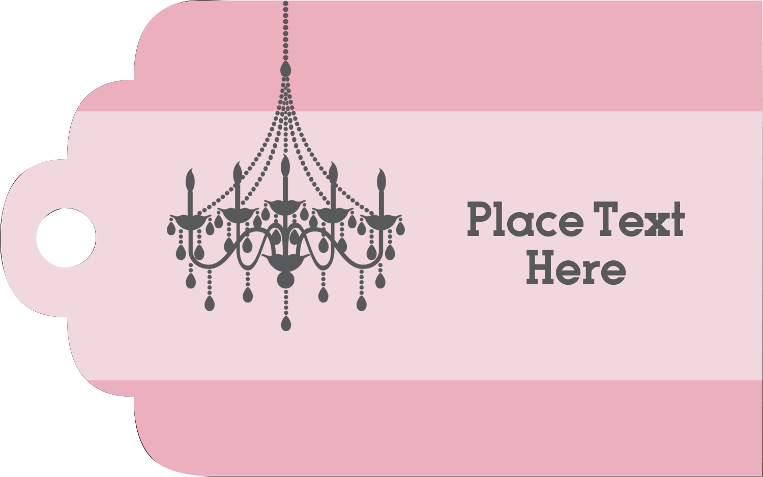 Printable Tags - Chandelier