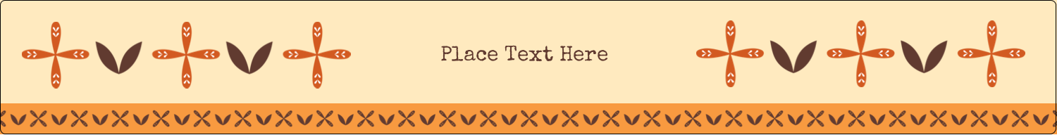 "9¾"" x 1¼"" Wraparound Label - Geometric Orange Blossoms"