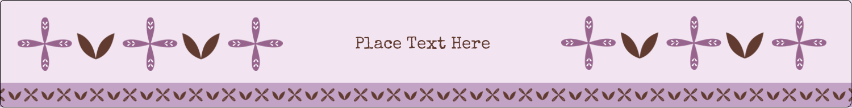 "9¾"" x 1¼"" Wraparound Label - Geometric Lavender Blossoms"