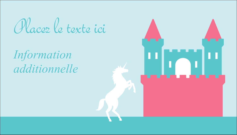 """3½"""" x 2"""" Carte d'affaire - Château"""