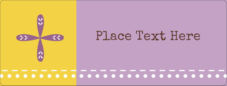 "½"" x 1¾"" Address Label - Geometric Lavender Blossoms"