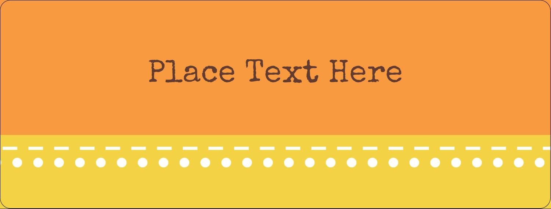 "½"" x 1¾"" Address Label - Geometric Orange Blossoms"