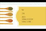 Cuillères Carte d'affaire - gabarit prédéfini. <br/>Utilisez notre logiciel Avery Design & Print Online pour personnaliser facilement la conception.