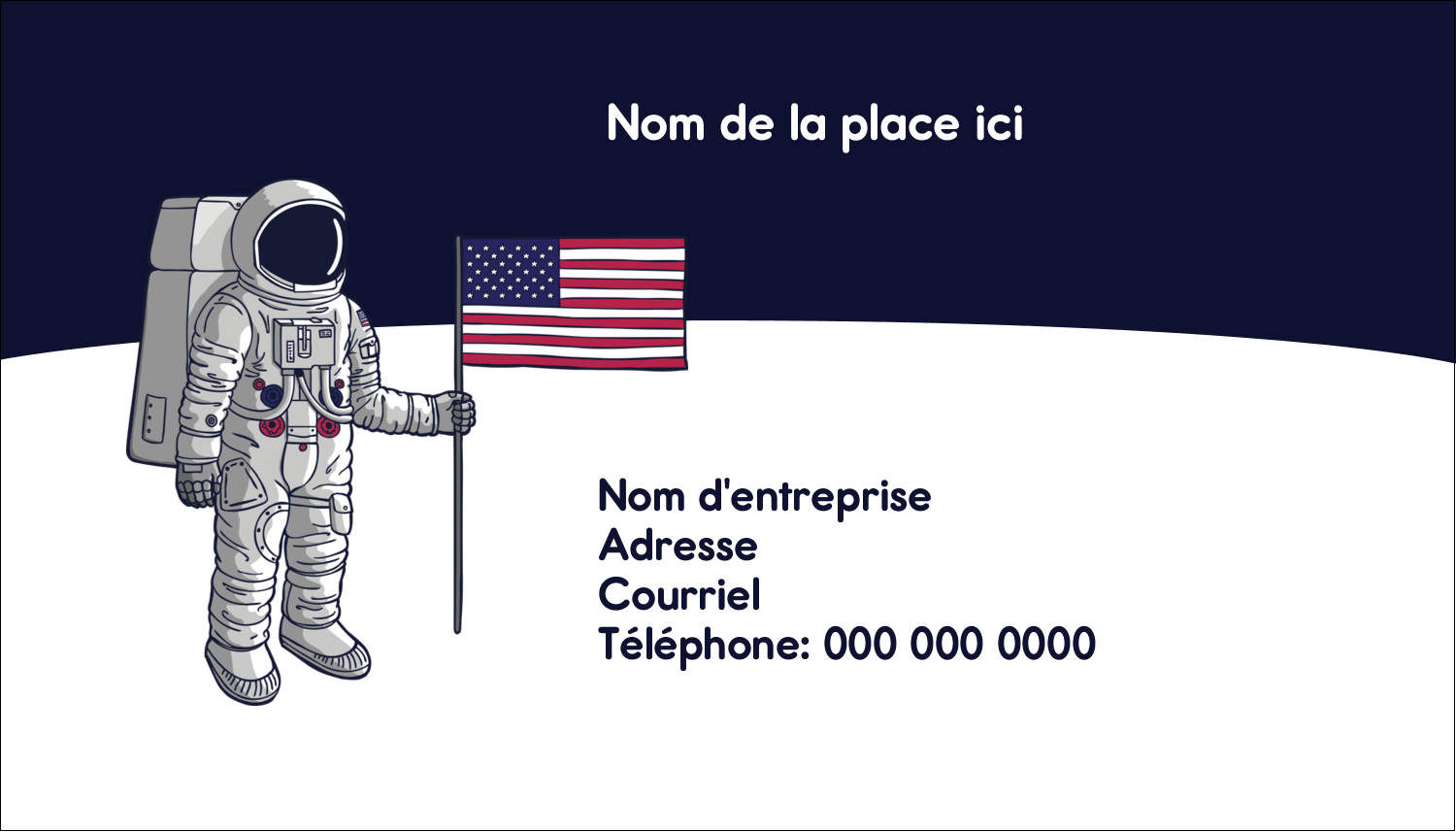 "3½"" x 2"" Carte d'affaire - Astronaute"