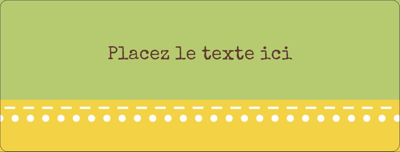 """½"""" x 1¾"""" Étiquettes D'Adresse - Fleurs vertes géométriques"""