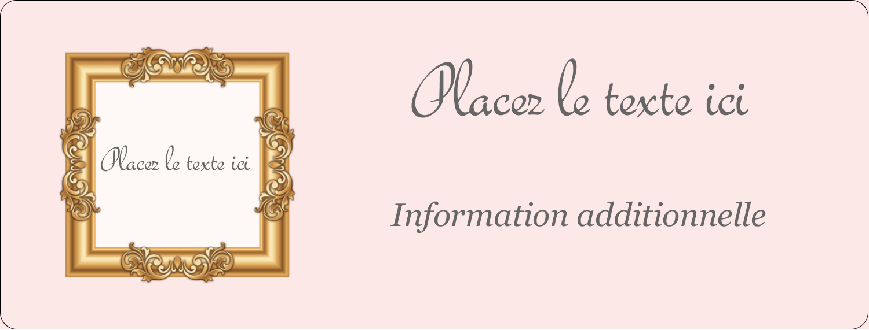 """½"""" x 1¾"""" Étiquettes D'Adresse - Galerie d'art"""