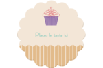 Petit gâteau Étiquettes rondes - gabarit prédéfini. <br/>Utilisez notre logiciel Avery Design & Print Online pour personnaliser facilement la conception.