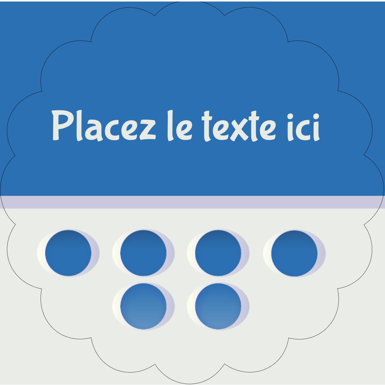 """2½"""" Diameter Étiquettes rondes - 4e étage"""