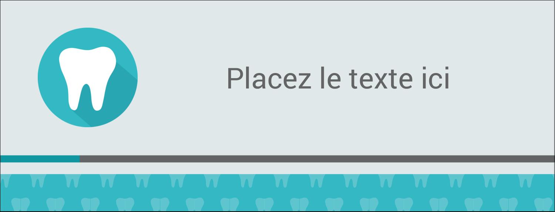 """1-7/16"""" x 3¾"""" Affichette - Dent"""