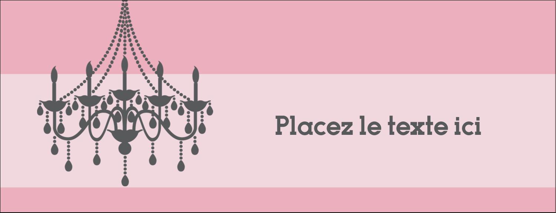 """1-7/16"""" x 3¾"""" Affichette - Chandelier"""