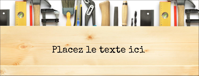 "1-7/16"" x 3¾"" Affichette - Menuiserie"