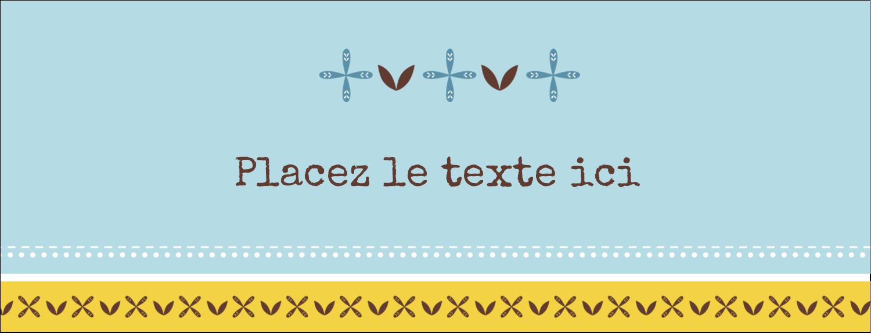 """1-7/16"""" x 3¾"""" Affichette - Bain bleu"""