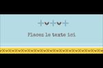 Bain bleu Affichette - gabarit prédéfini. <br/>Utilisez notre logiciel Avery Design & Print Online pour personnaliser facilement la conception.