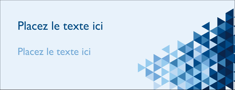 """1-7/16"""" x 3¾"""" Affichette - Angles bleus"""