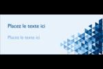 Angles bleus  Affichette - gabarit prédéfini. <br/>Utilisez notre logiciel Avery Design & Print Online pour personnaliser facilement la conception.