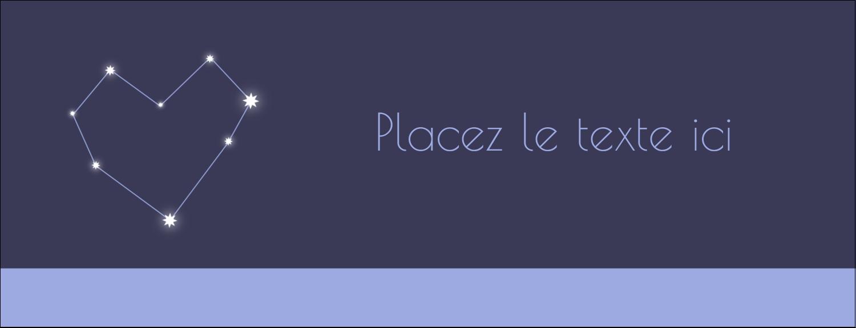 """1-7/16"""" x 3¾"""" Affichette - Étoiles d'anniversaire"""