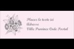 Bouquet de fleurs Étiquettes D'Adresse - gabarit prédéfini. <br/>Utilisez notre logiciel Avery Design & Print Online pour personnaliser facilement la conception.