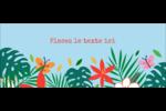 Plantes tropicales Affichette - gabarit prédéfini. <br/>Utilisez notre logiciel Avery Design & Print Online pour personnaliser facilement la conception.