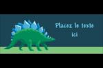 Dinosaure Affichette - gabarit prédéfini. <br/>Utilisez notre logiciel Avery Design & Print Online pour personnaliser facilement la conception.