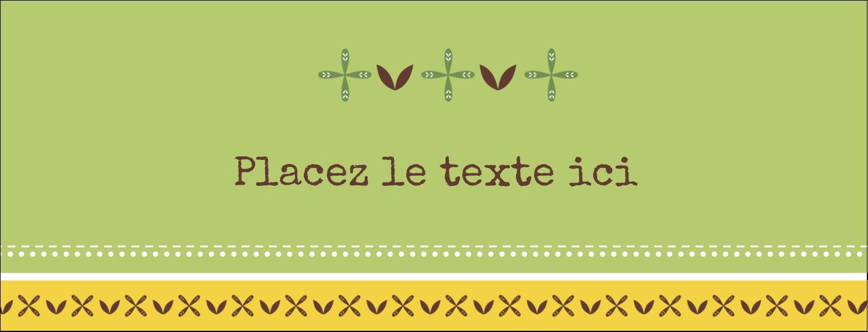 """1-7/16"""" x 3¾"""" Cartes Pour Le Bureau - Fleurs vertes géométriques"""
