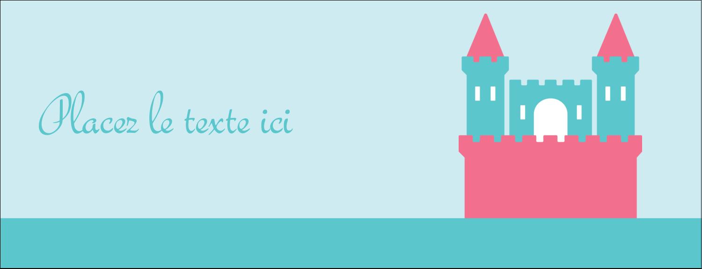 "1-7/16"" x 3¾"" Affichette - Château"