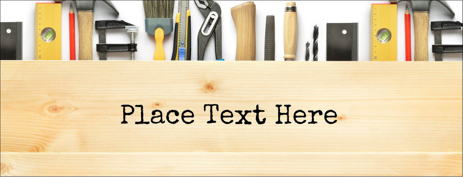 """1-7/16"""" x 3¾"""" Tent Card - Carpentry"""