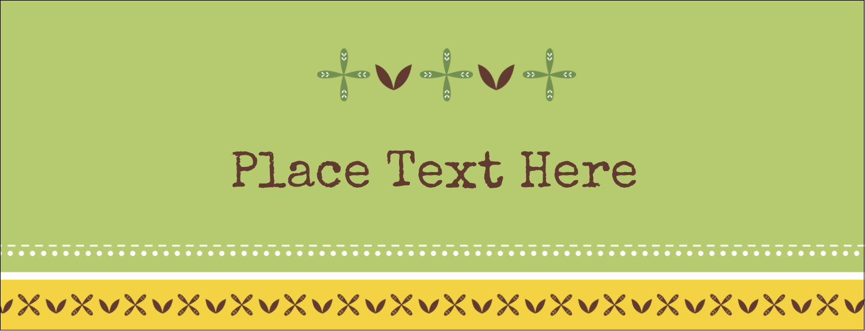 "1-7/16"" x 3¾"" Tent Card - Geometric Green Blossoms"