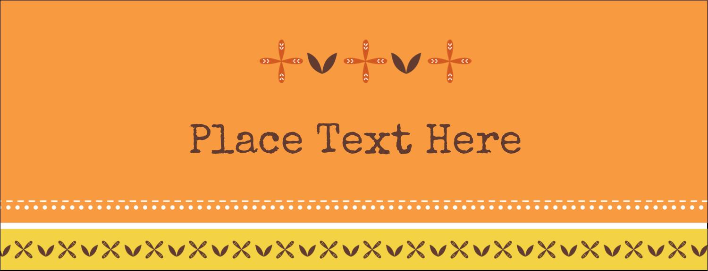 "1-7/16"" x 3¾"" Tent Card - Geometric Orange Blossoms"
