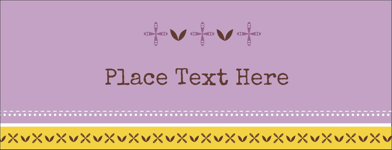 "1-7/16"" x 3¾"" Tent Card - Geometric Lavender Blossoms"