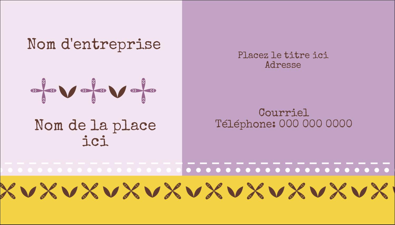 """3½"""" x 2"""" Carte d'affaire - Lavande géométrique"""