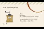 L'heure du café Carte d'affaire - gabarit prédéfini. <br/>Utilisez notre logiciel Avery Design & Print Online pour personnaliser facilement la conception.