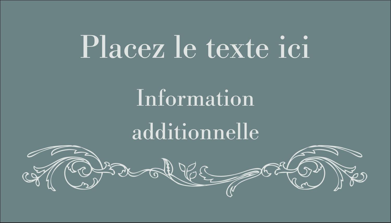 """3½"""" x 2"""" Carte d'affaire - Cachet français"""