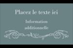 Cachet français Carte d'affaire - gabarit prédéfini. <br/>Utilisez notre logiciel Avery Design & Print Online pour personnaliser facilement la conception.