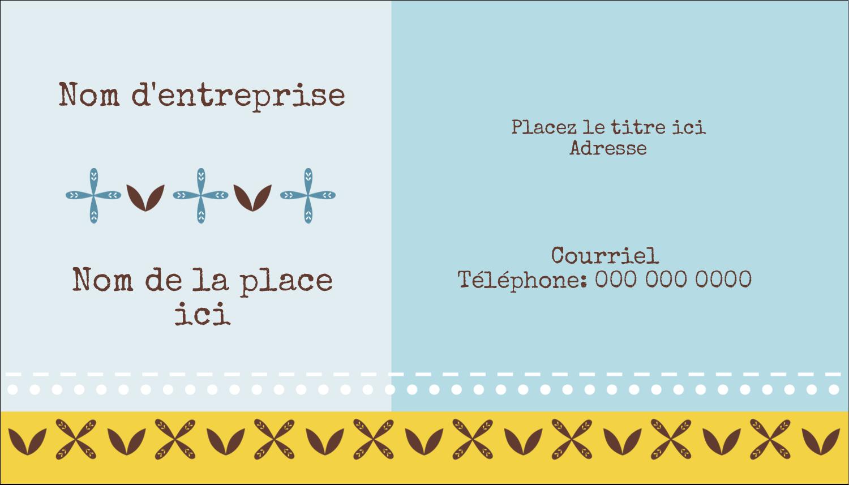 "3½"" x 2"" Carte d'affaire - Bain bleu"