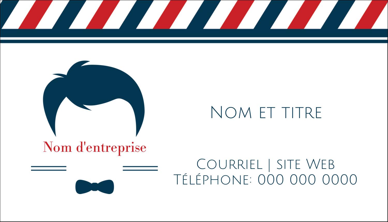"""3½"""" x 2"""" Carte d'affaire - Salon de barbier"""